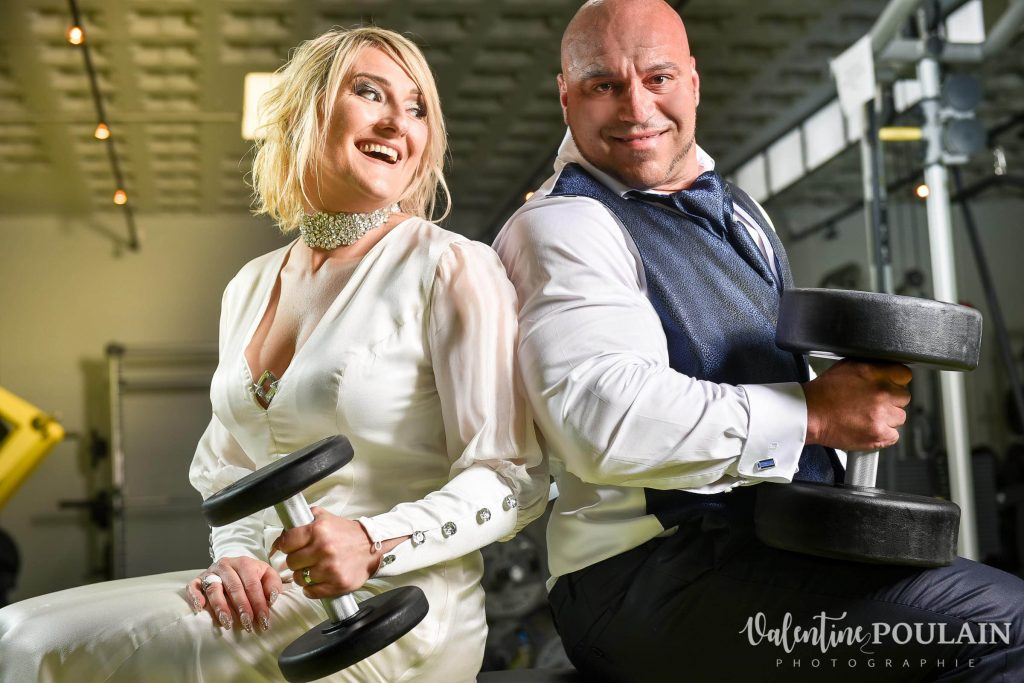 Shooting couple mariage muculation fitness