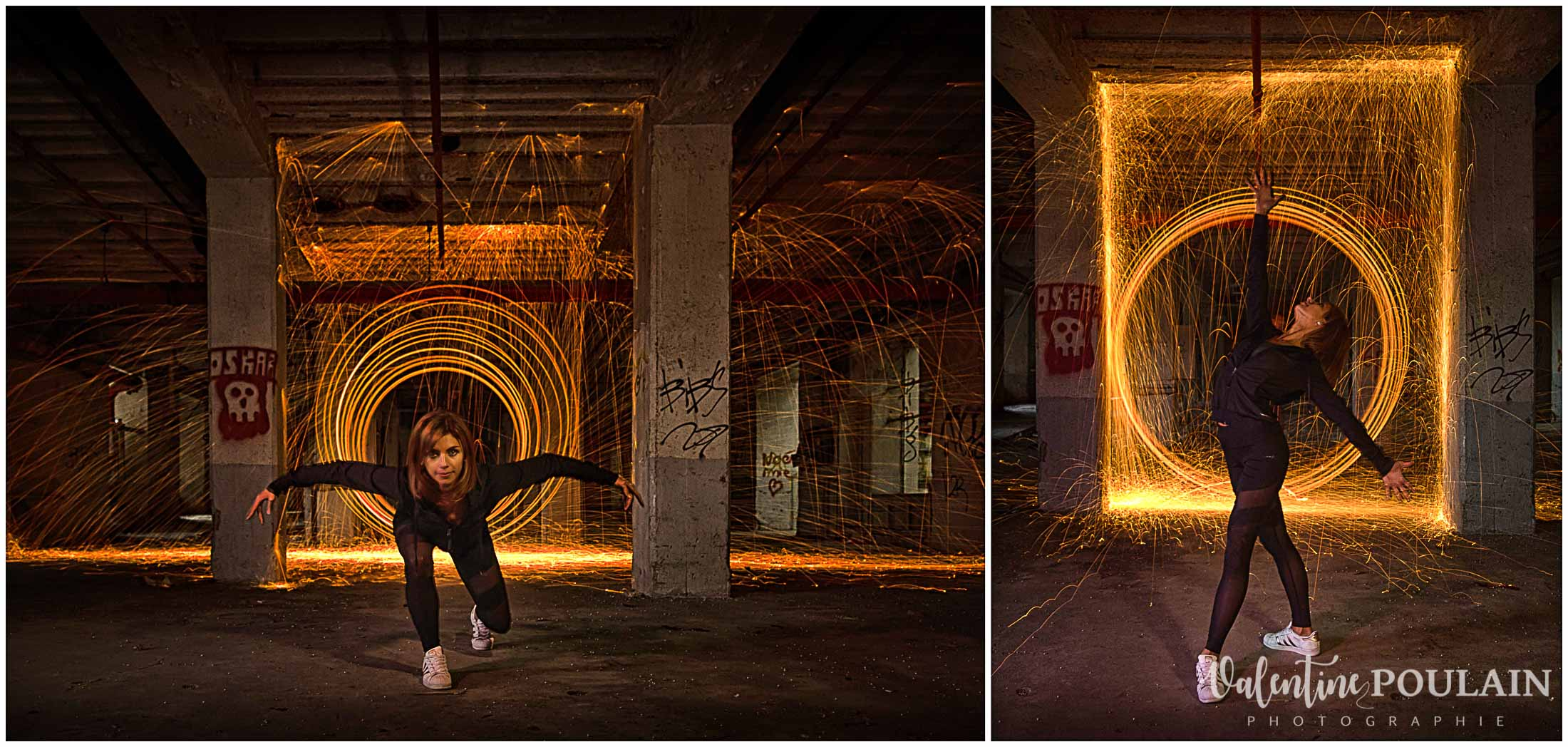 Light painting danseuse