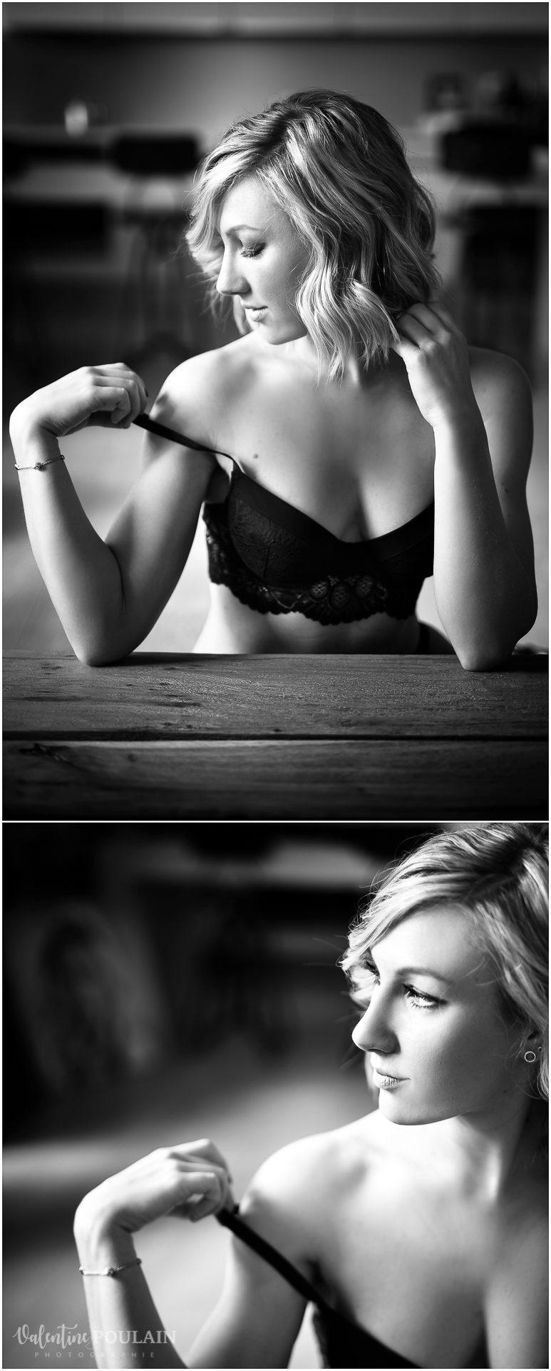 boudoir glamour - Valentine Poulain photographe