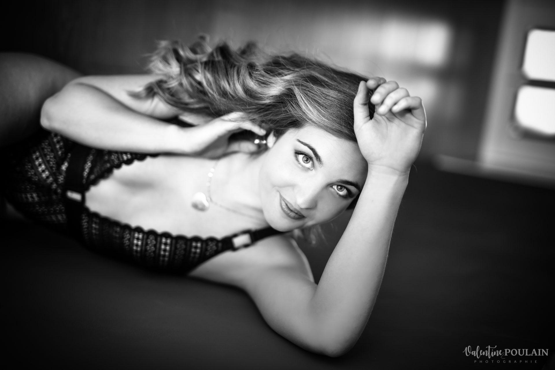 boudoir noir&blanc - Valentine Poulain