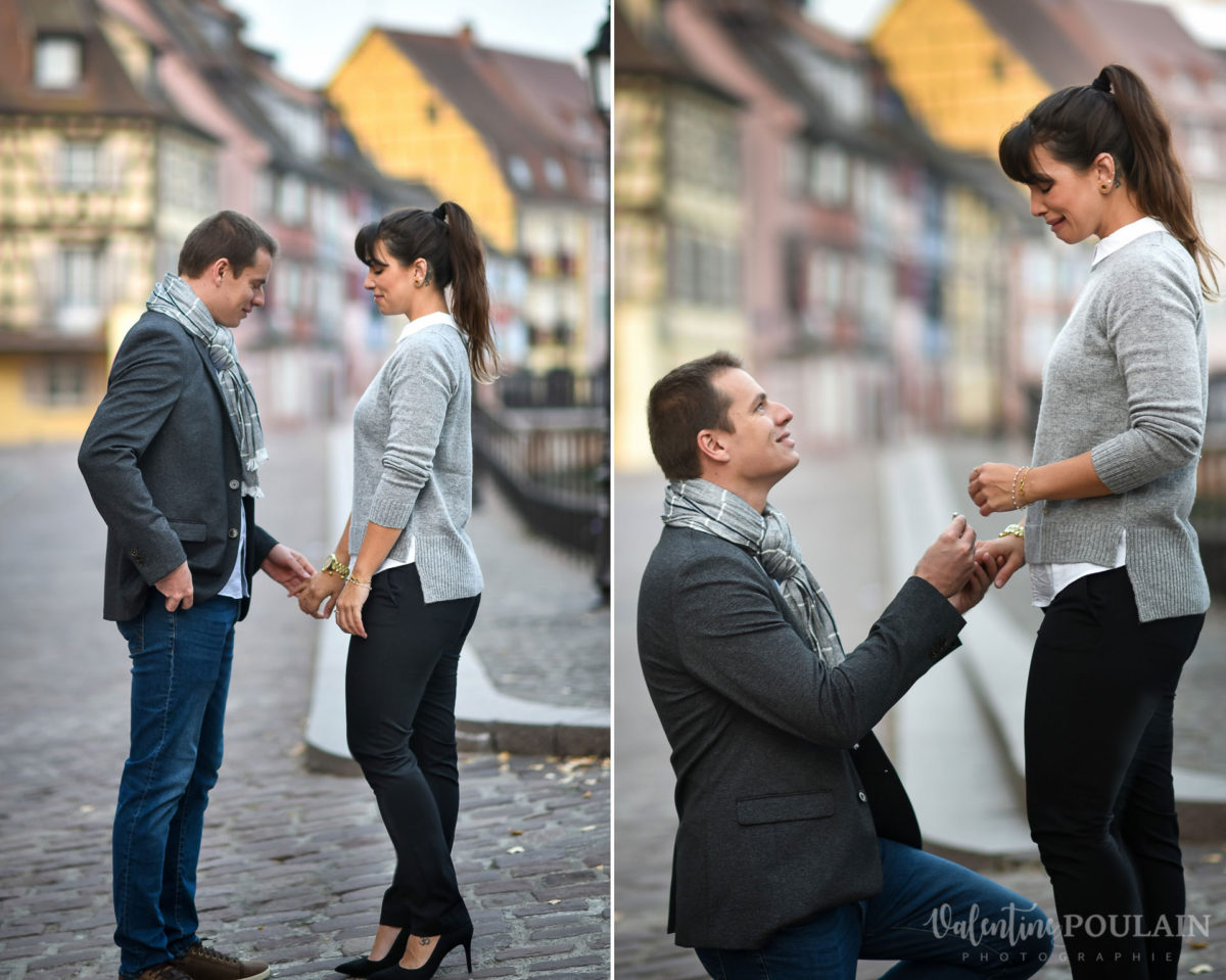 Demande en mariage Colmar - Valentine Poulain action