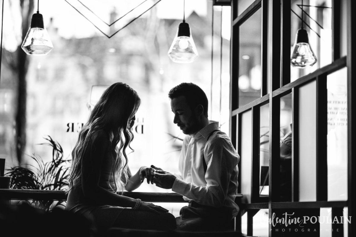 Demande mariage bar Camille & Julien