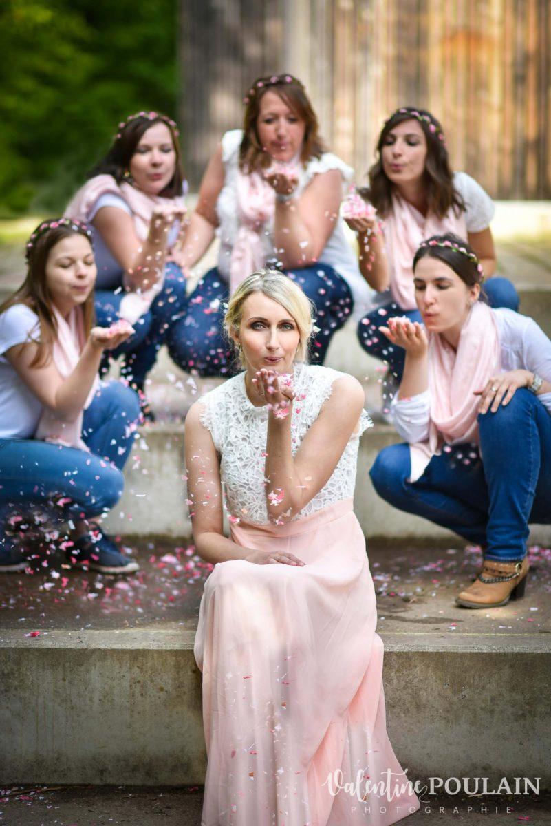 EVJF rose confettis - Valentine Poulain