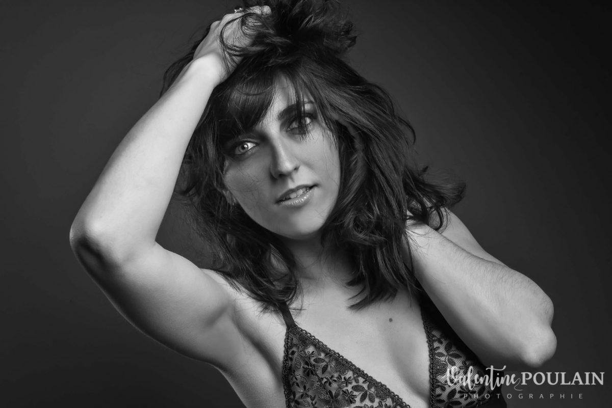 Shooting portrait studio Anais sexy - Valentine Poulain