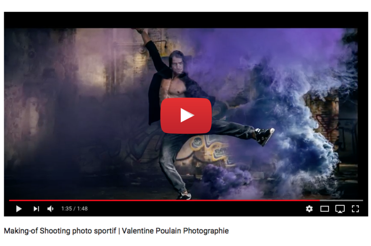 Voir video making-of shooting sportif - Valentine Poulain Photographie