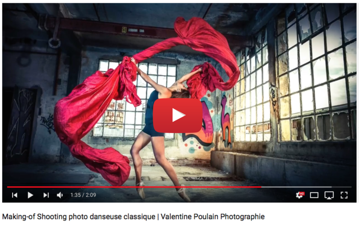 Voir video making-of shooting photo danseuse classique - Valentine Poulain Photographie