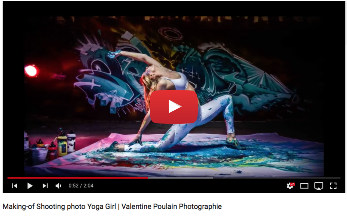 Voir video making-of shooting photo yoga girl - Valentine Poulain Photographie