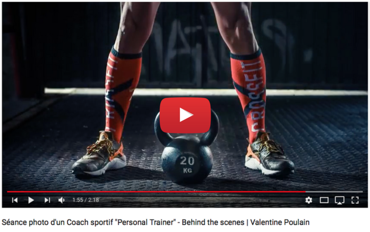 Voir video Coach sportif Personal Trainer - behind scene- Valentine Poulain Photographie