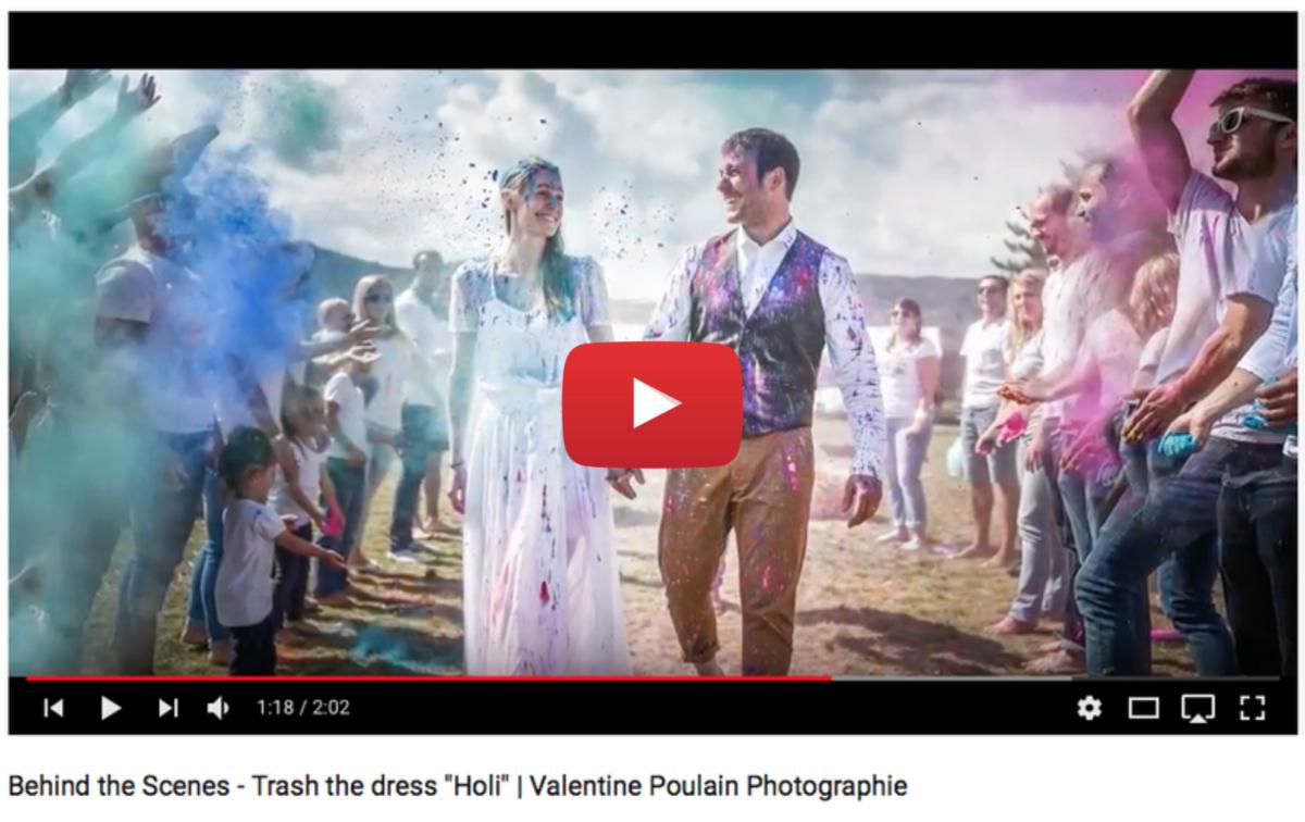 Voir video Shooting Trash the dress Holi - Valentine Poulain Photographie