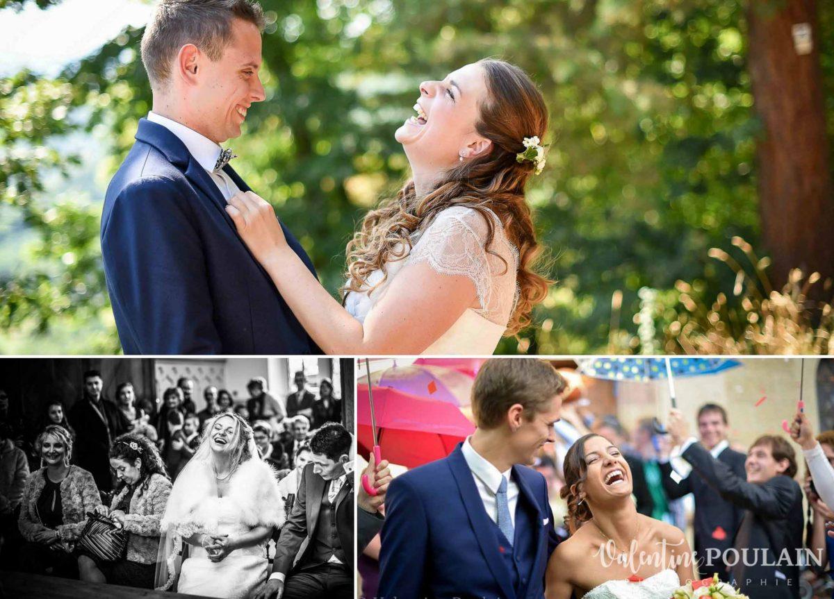 Photo fou-rire - Valentine Poulain mariage