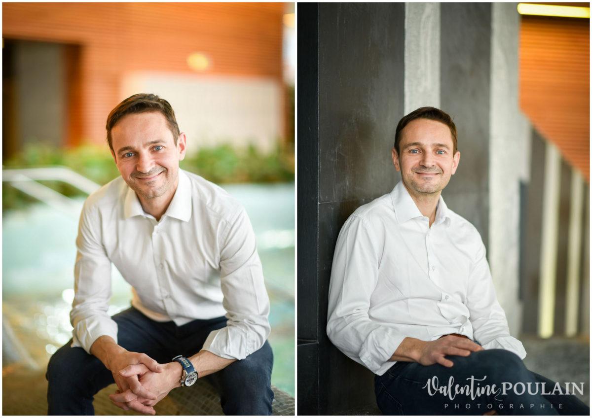 Portrait corporate sophrologue souriant