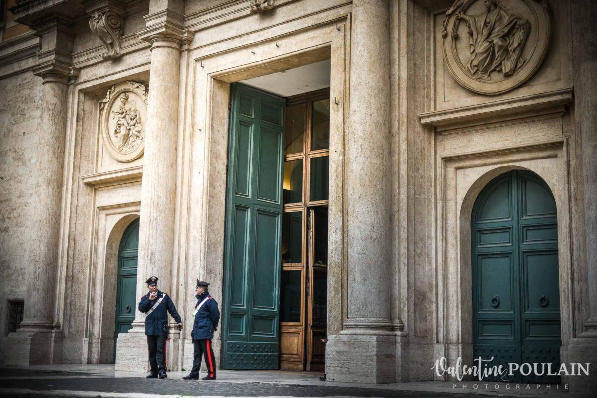 Rome Italie - Valentine Poulain gendarmes