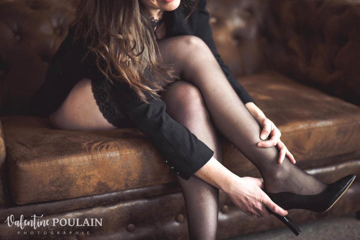 Shooting boudoir Anne éclat douceur - Valentine Poulain chesterlfield