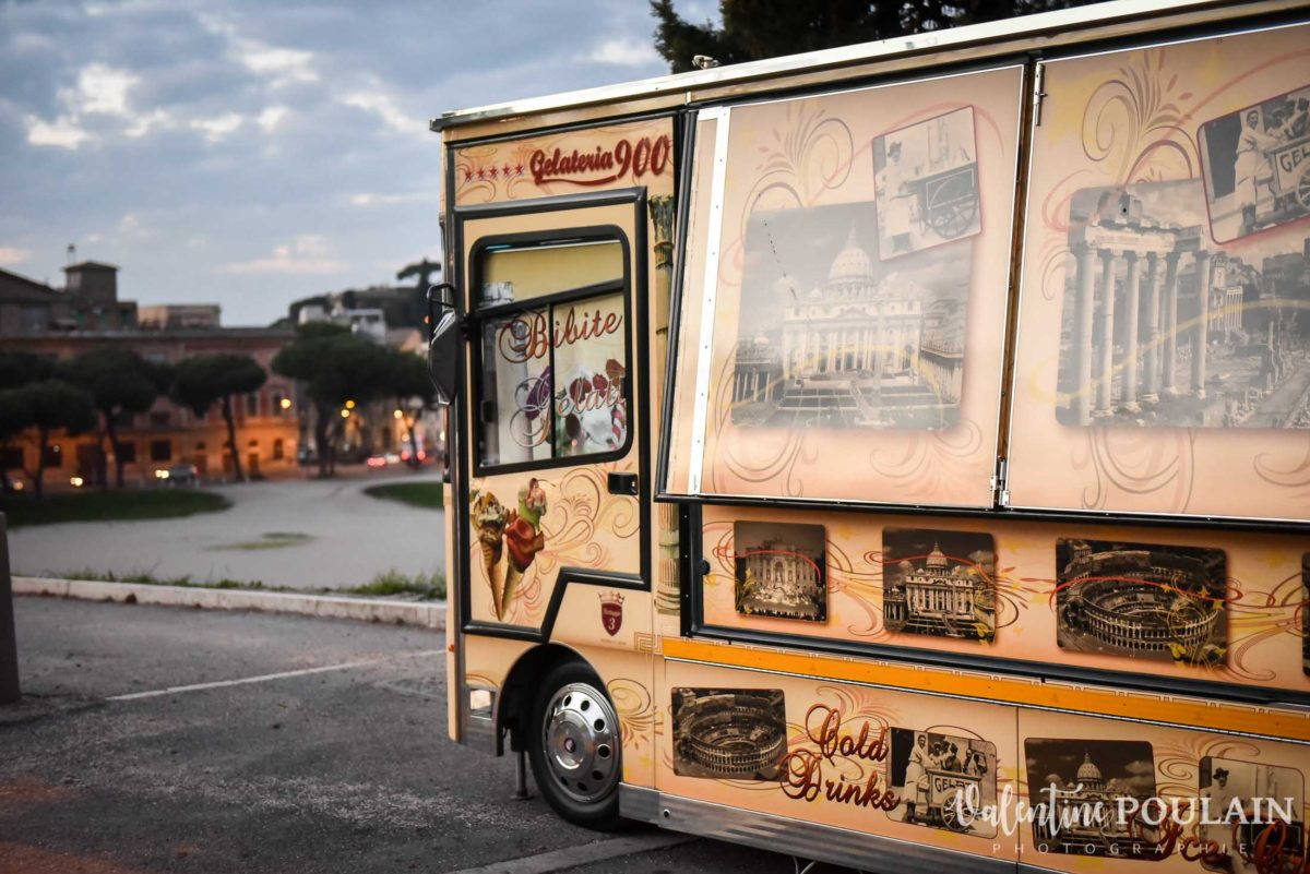 Shooting couple demande mariage Rome camion