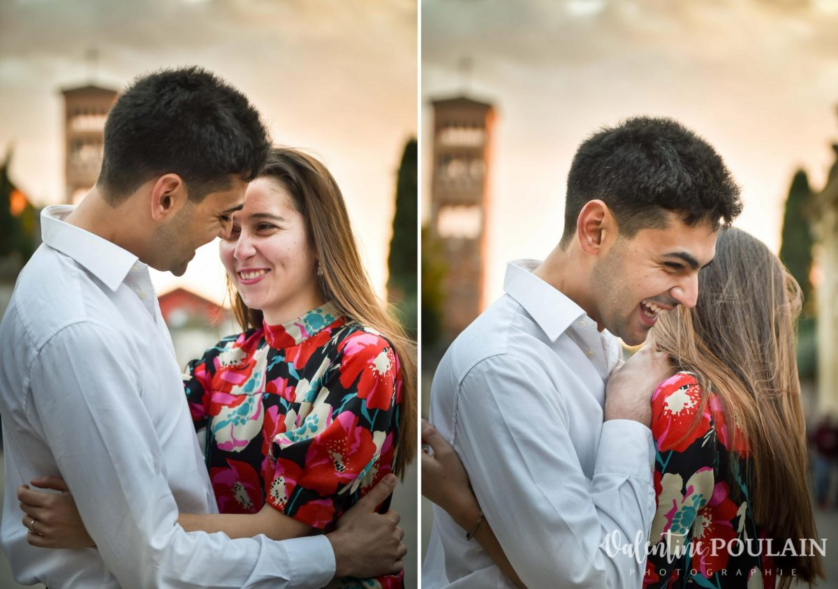Shooting couple demande mariage Rome fou-rire