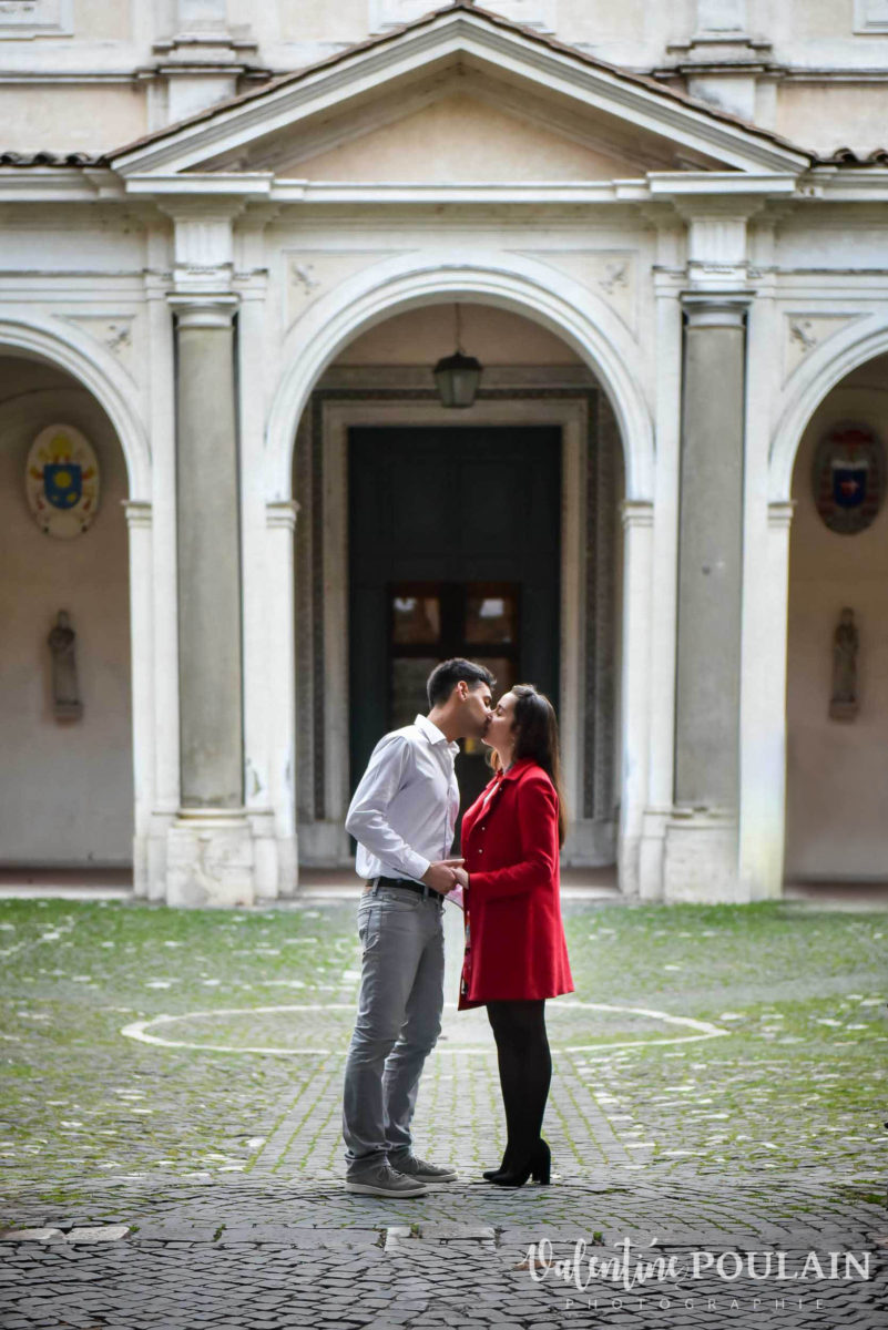Shooting couple demande mariage Rome YES