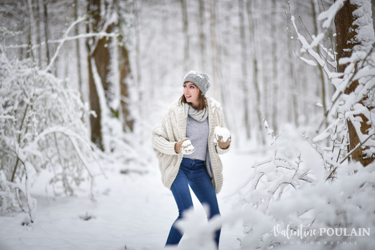 Shooting couple hivernal - Valentine Poulain neige