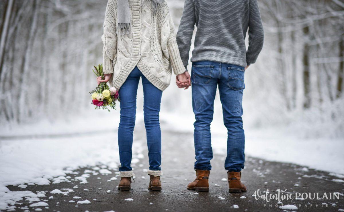Shooting couple hivernal - Valentine Poulain dos