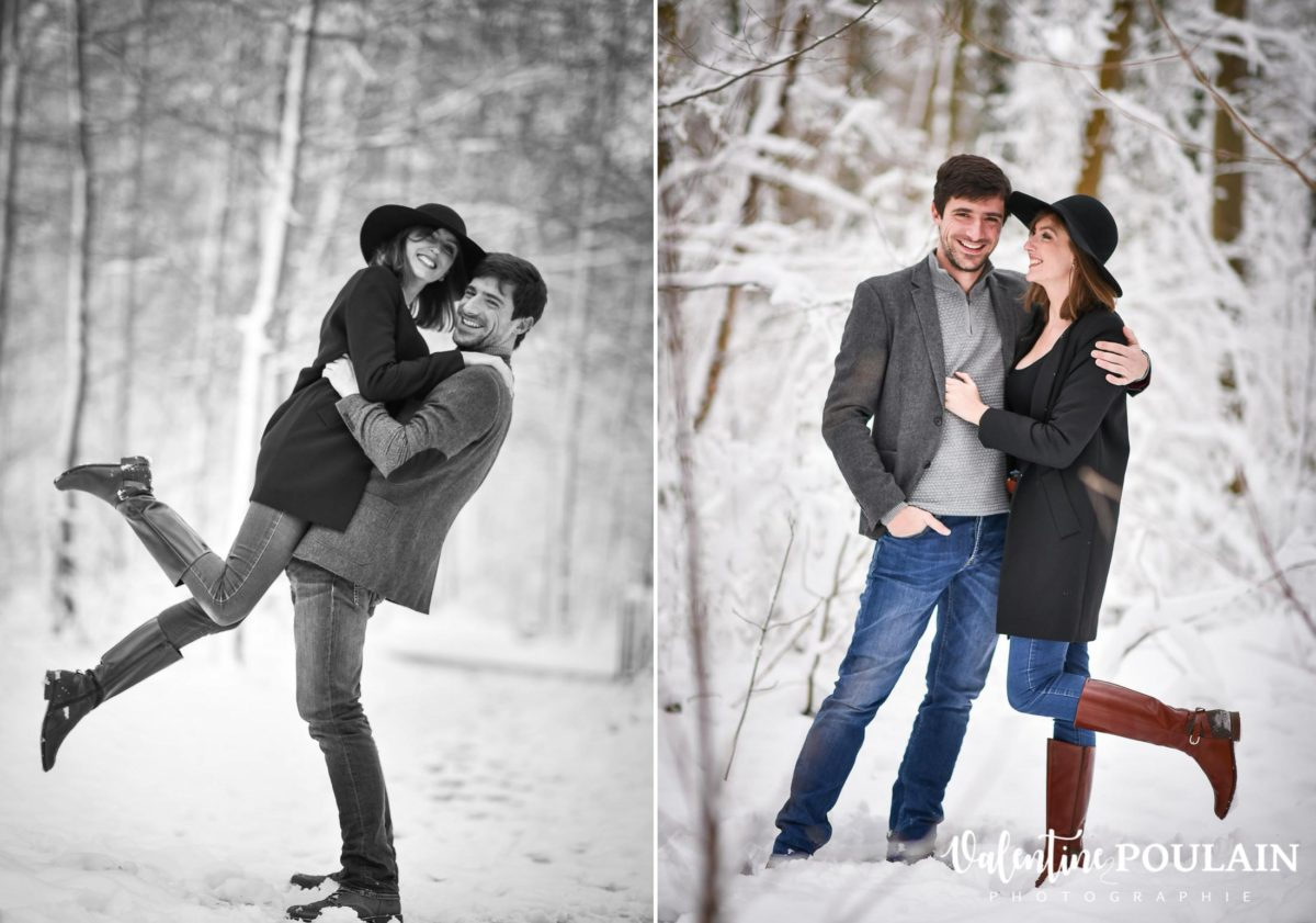 Shooting couple hivernal - Valentine Poulain duo