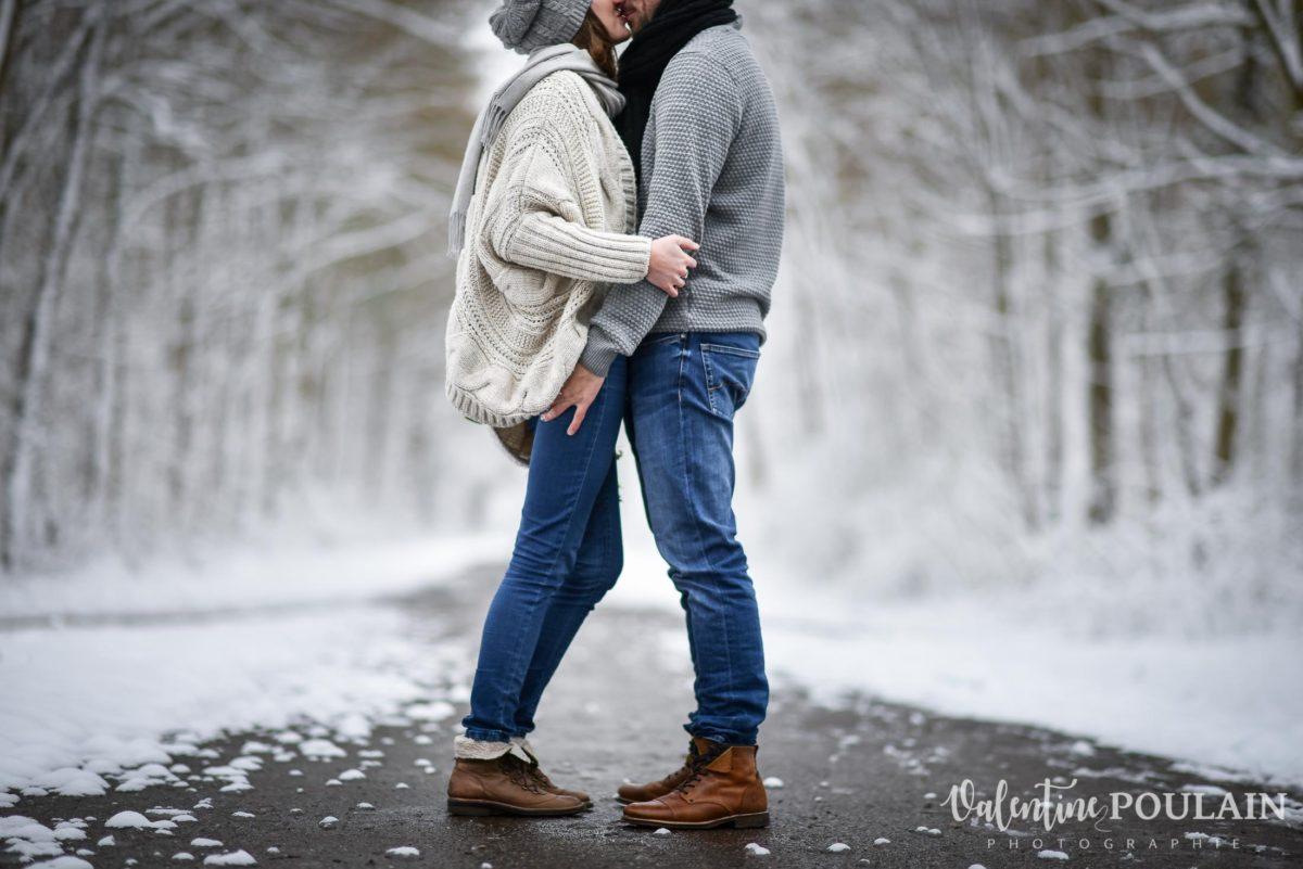 Shooting couple hivernal - Valentine Poulain face