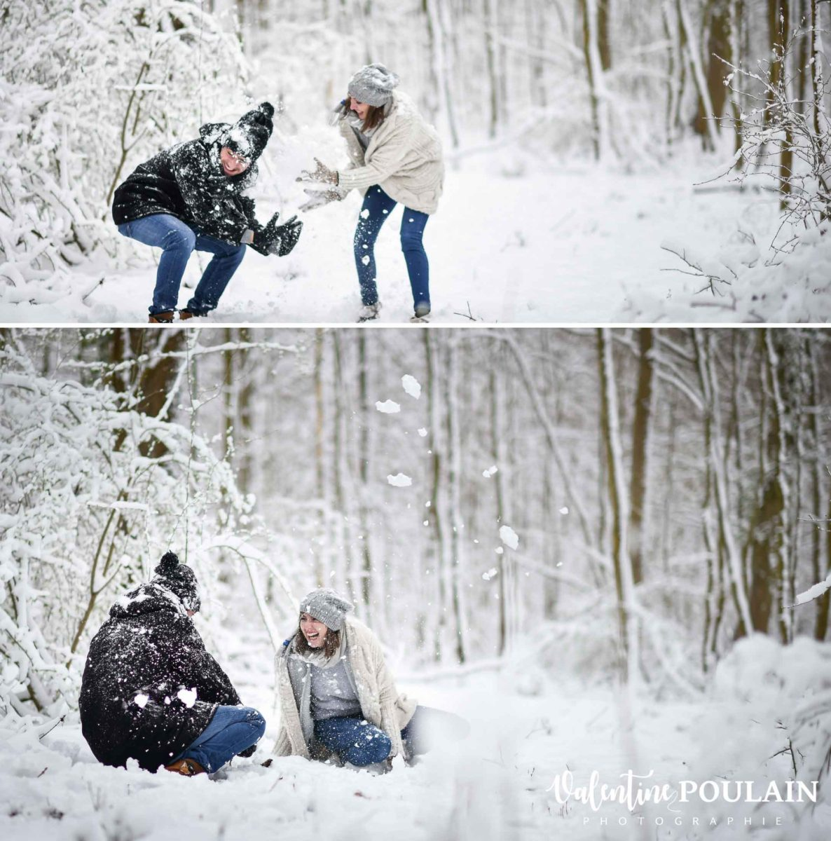 Shooting couple hivernal - Valentine Poulain jeux