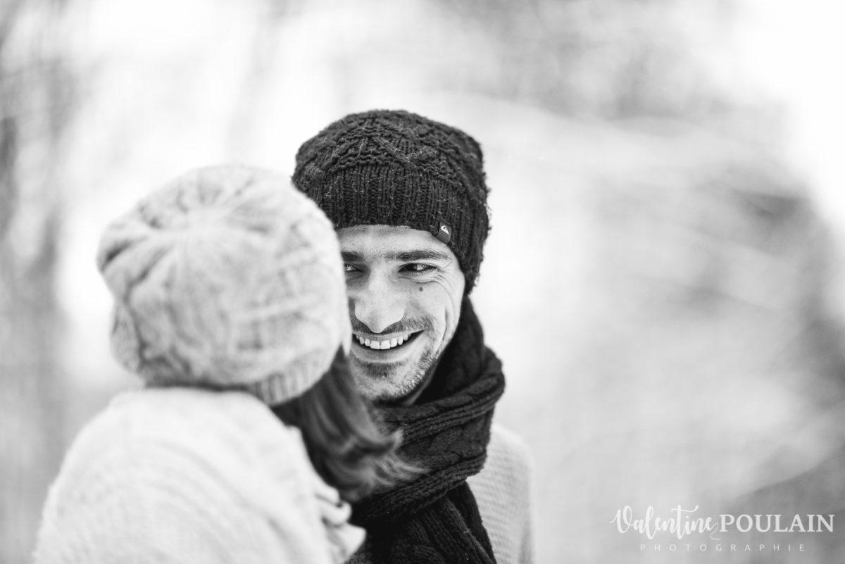 Shooting couple hivernal - Valentine Poulain lui