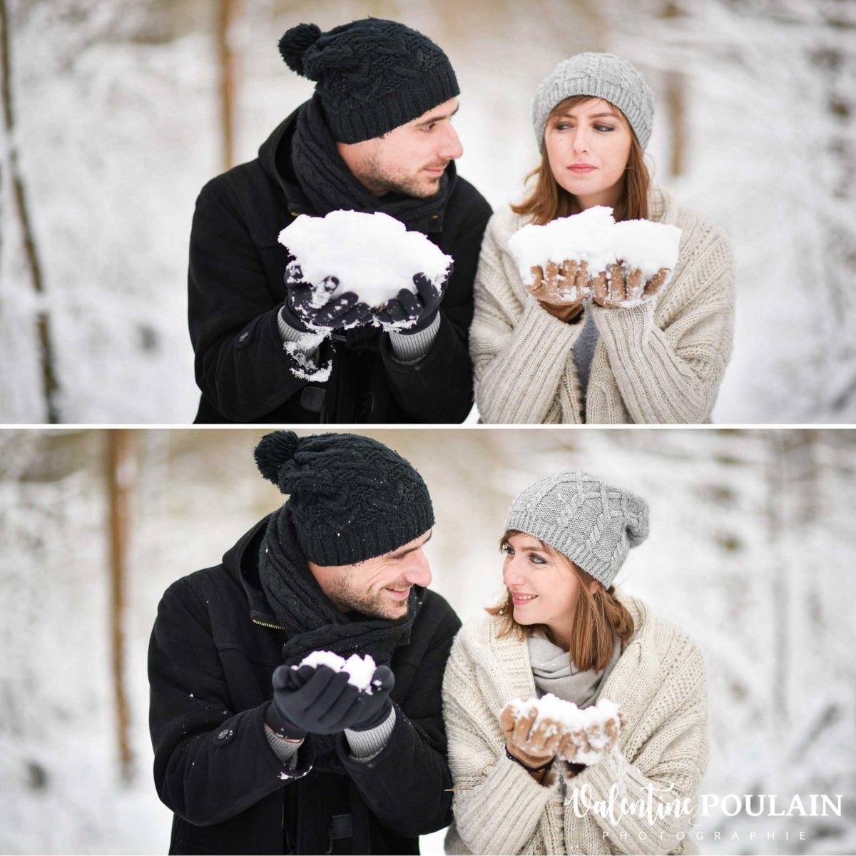 Shooting couple hivernal - Valentine Poulain regard