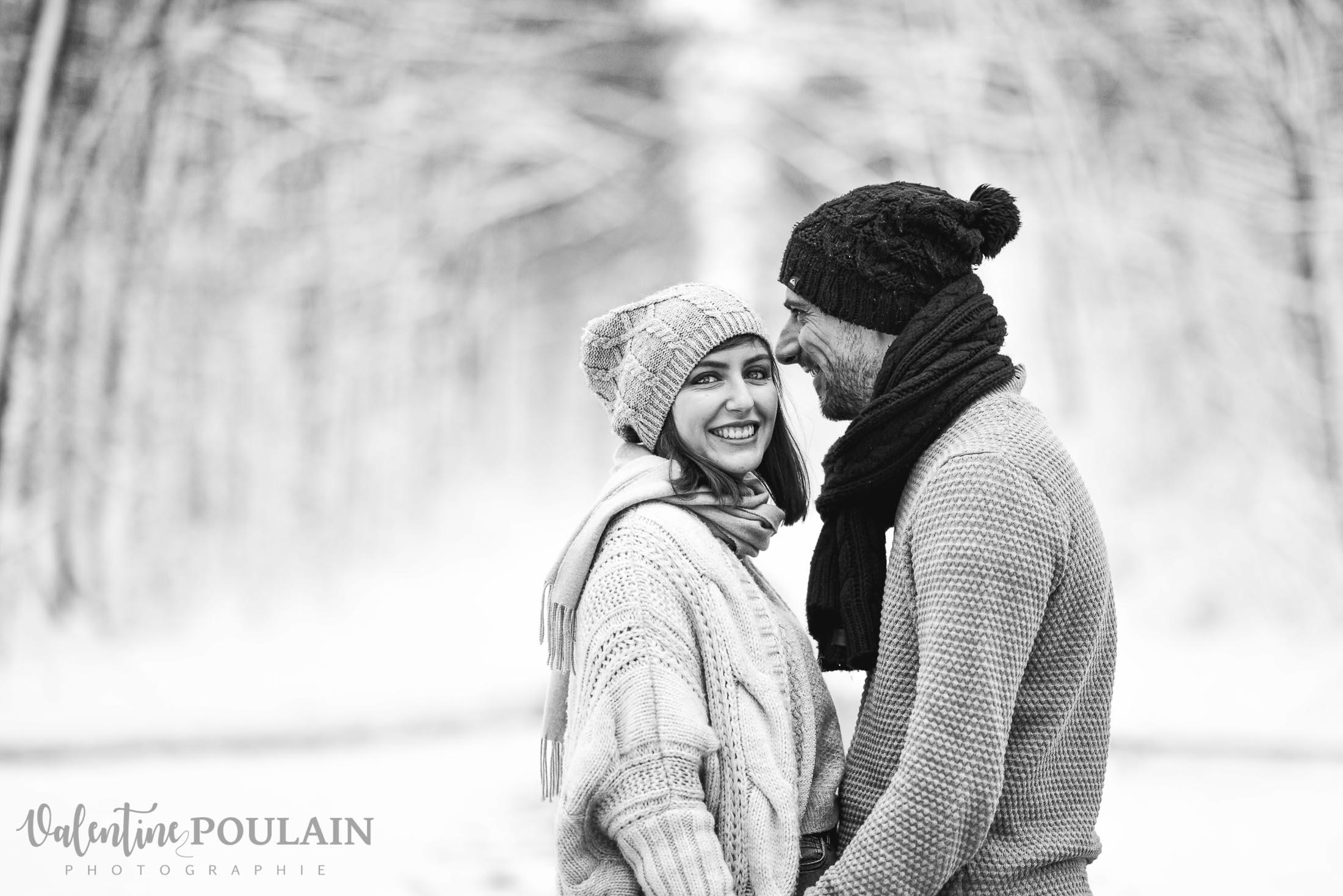 Shooting couple hivernal - Valentine Poulain elle