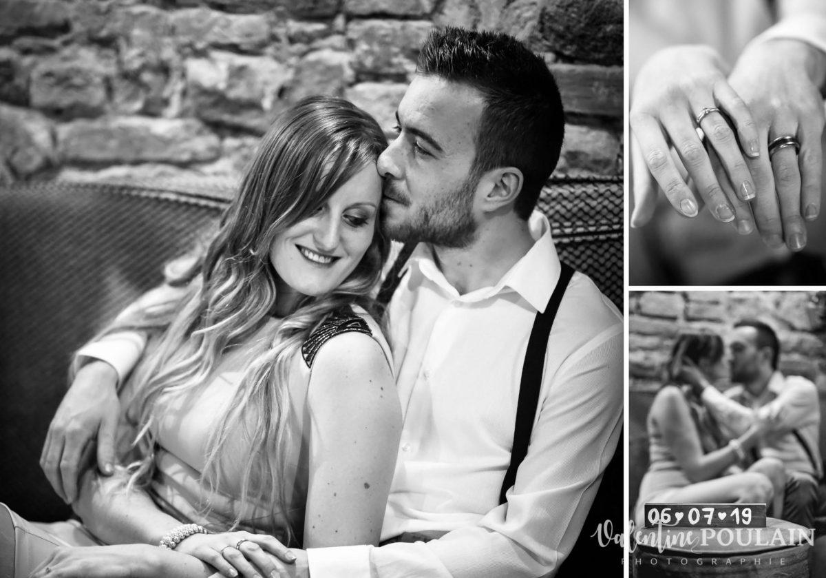Shooting engagement demande mariage canapés