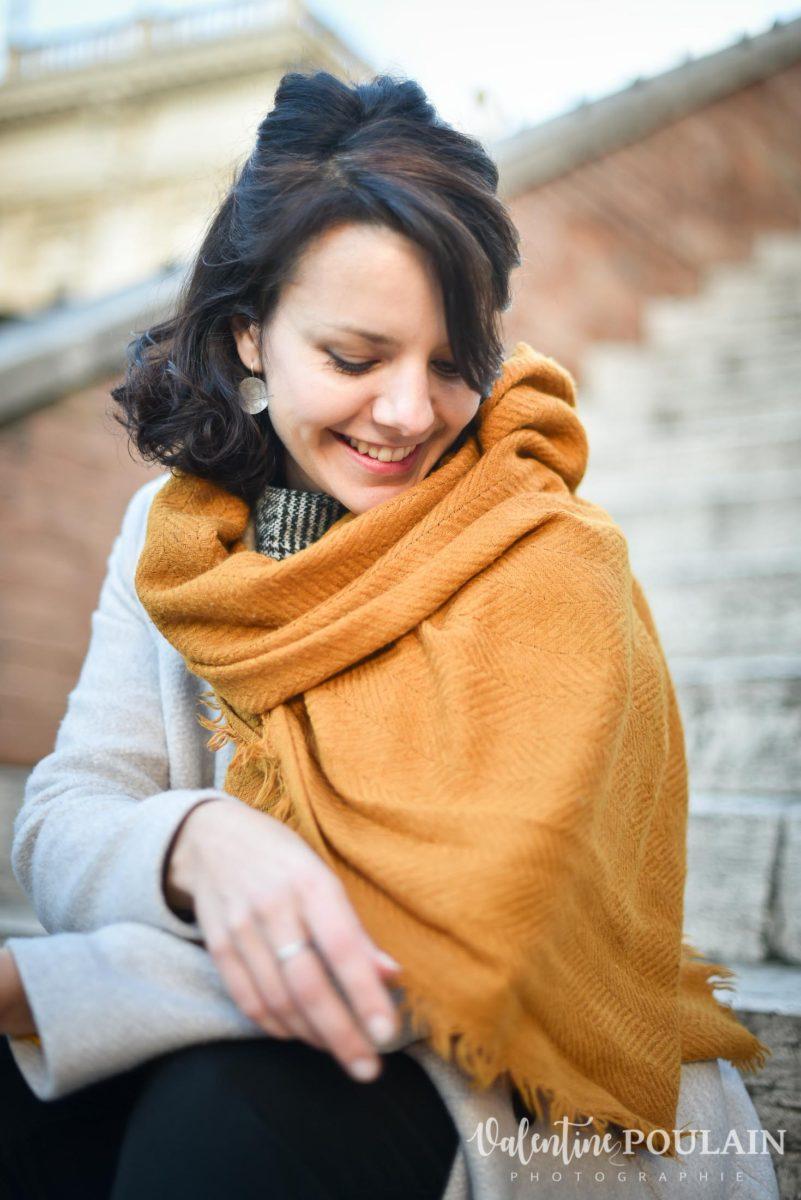 Shooting portrait Silvene Rome Créatrice douce