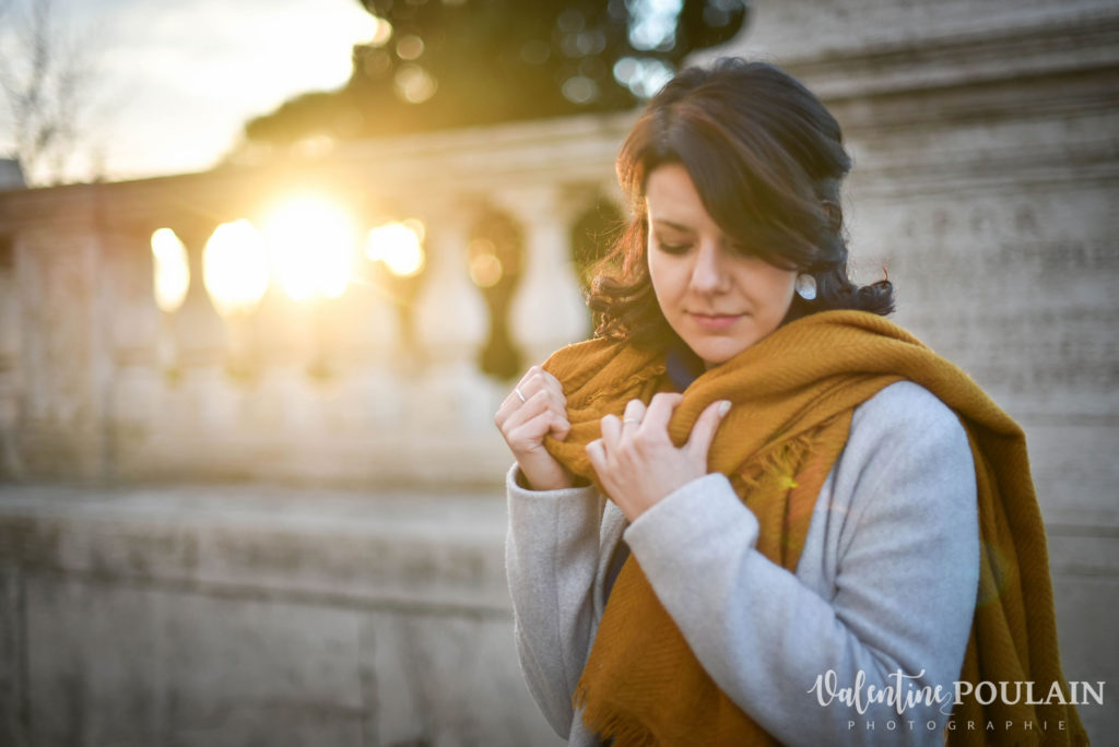 Shooting portrait Silvene Rome Créatrice lumière