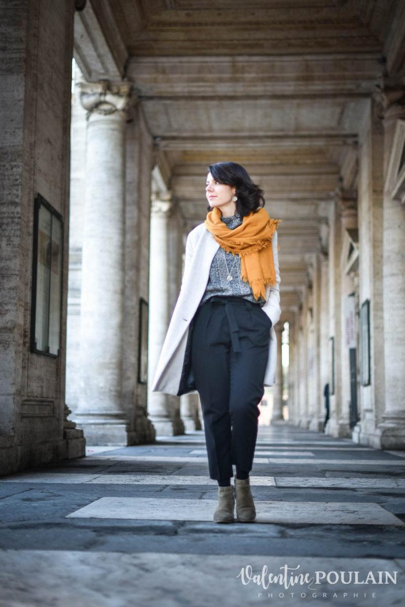 Shooting portrait Silvene Rome Créatrice marche