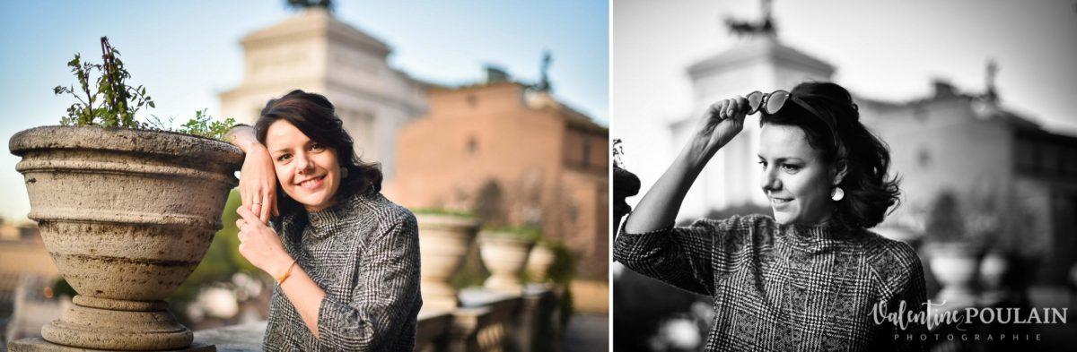 Shooting portrait Silvene Rome Créatrice poses
