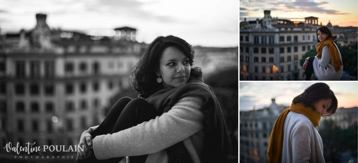 Shooting portrait Silvene Rome Créatrice vue