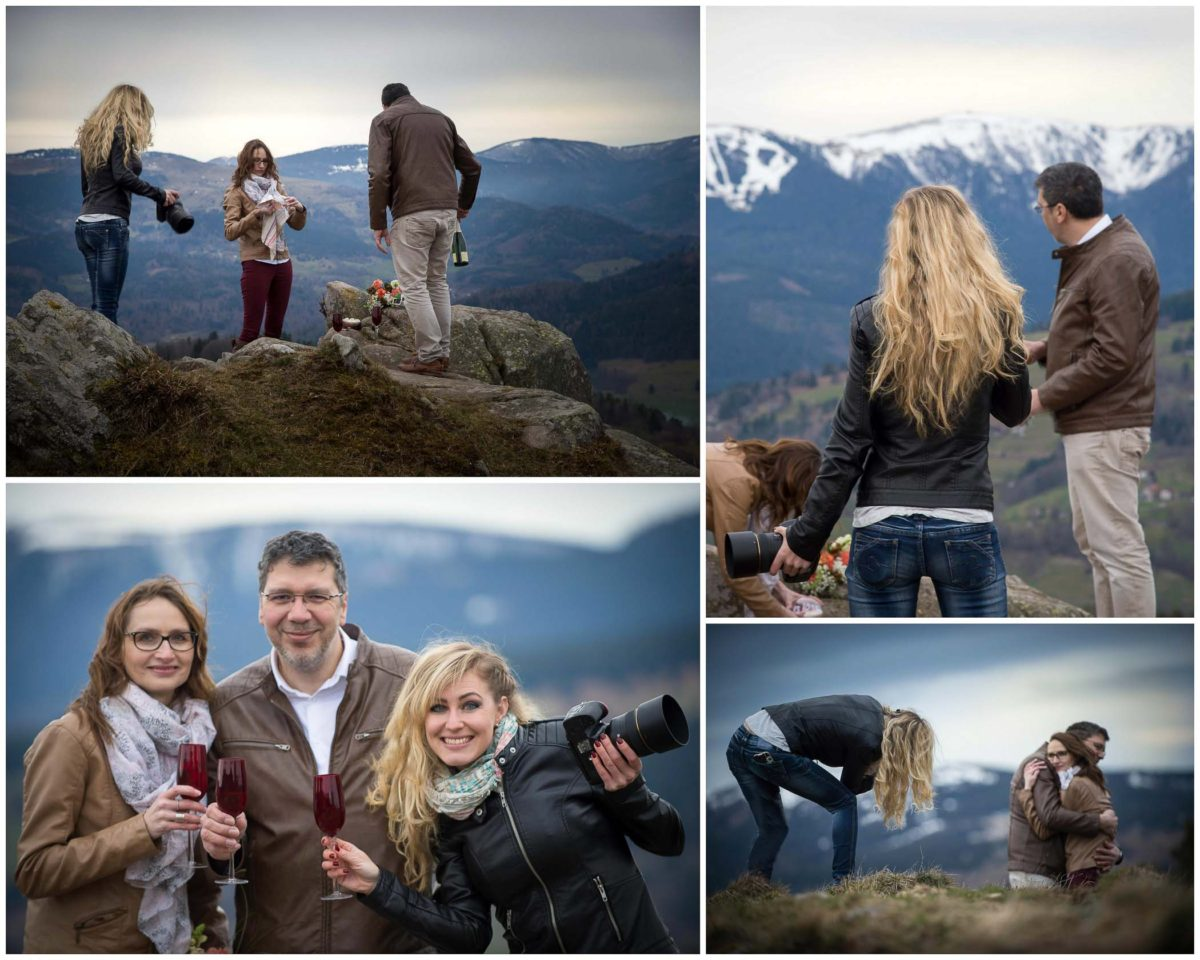 BTS Shooting save the date montagne - Valentine Poulain