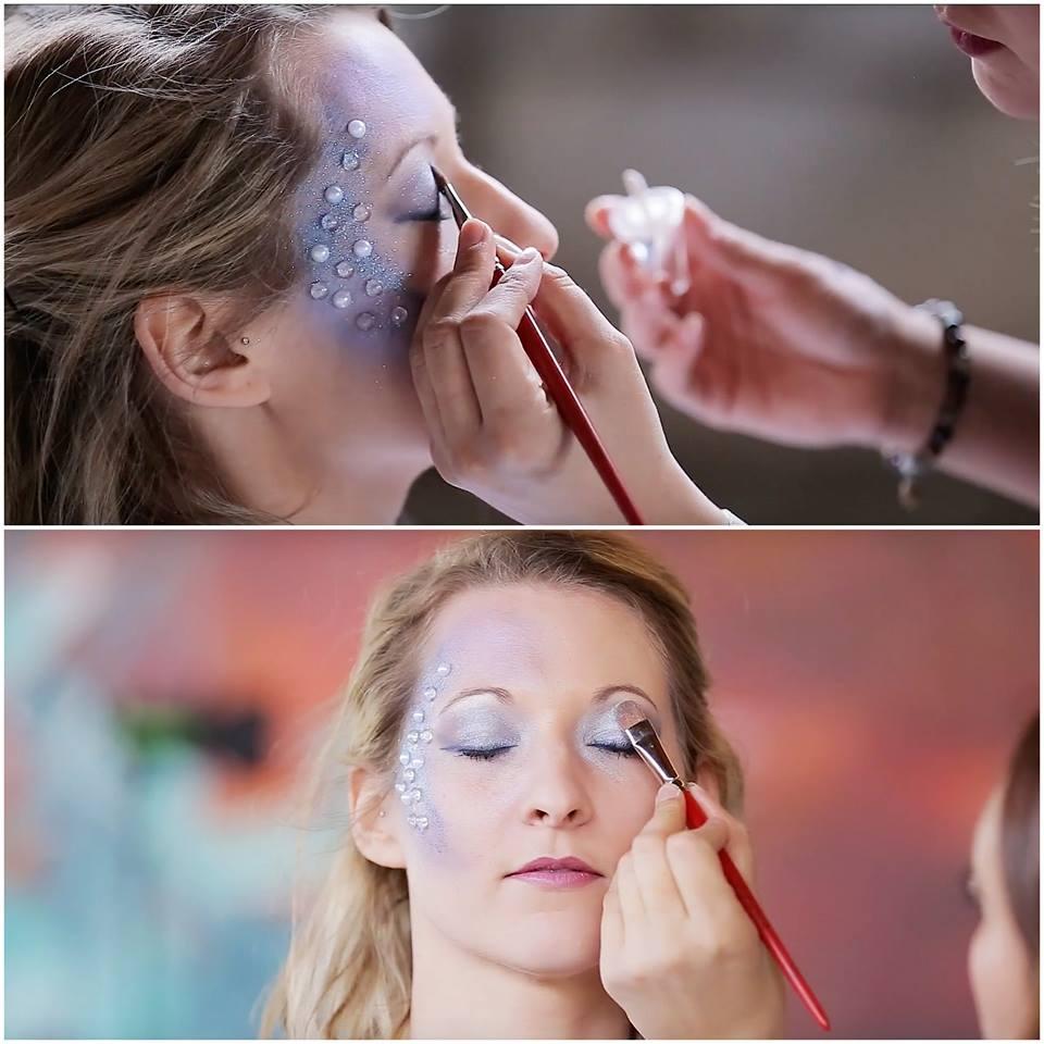 Make-up shooting yoga