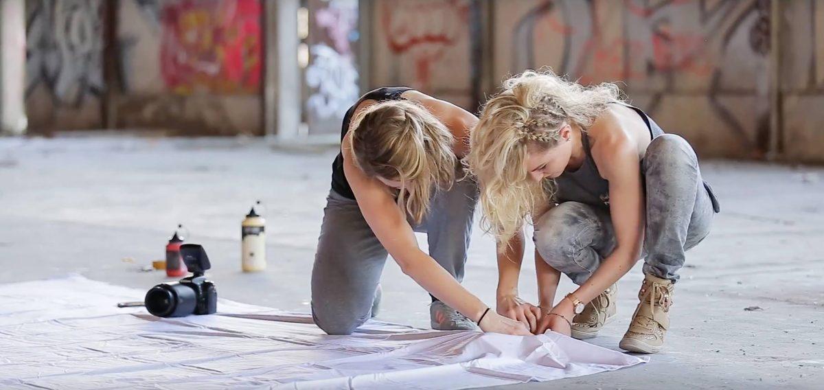 Making-of shooting yoga - préparation