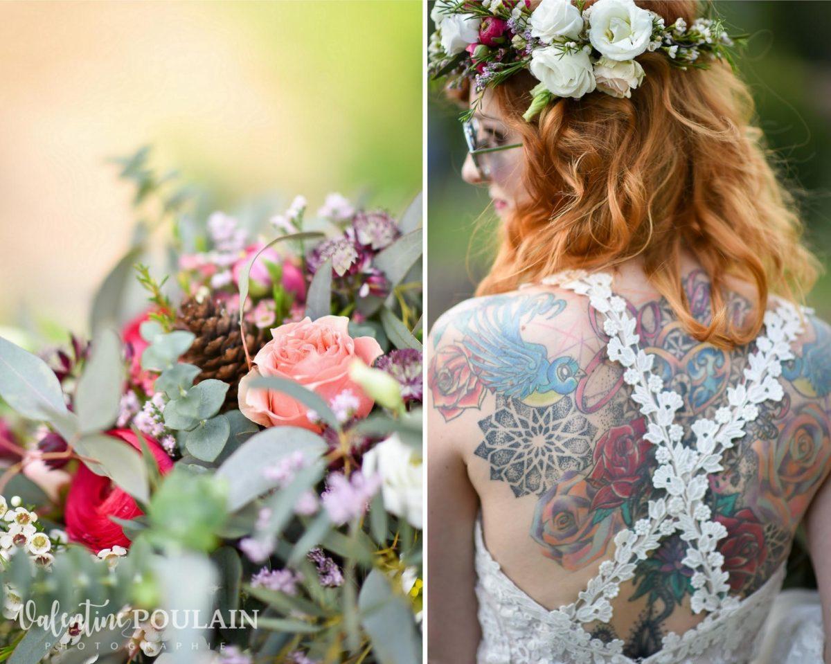 Mariage hippie funky - Valentine Poulain tattoo