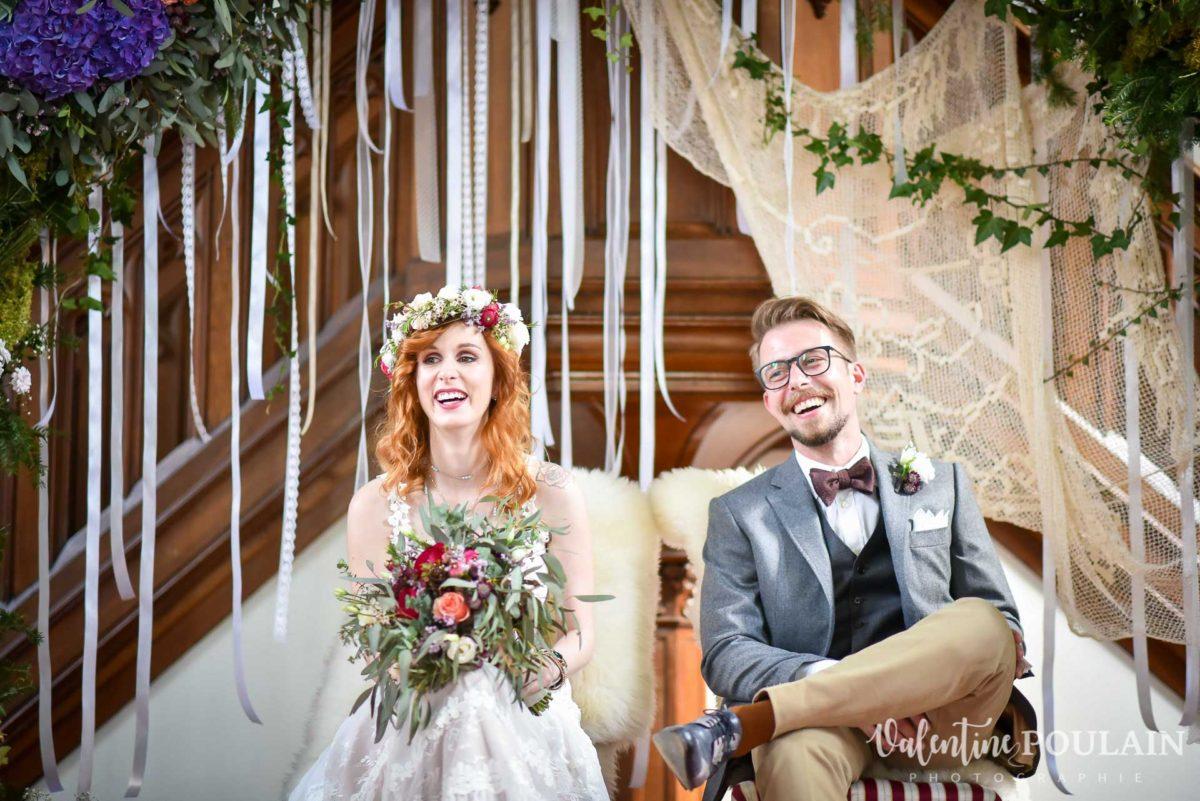 Mariage hippie funky - Valentine Poulain couple