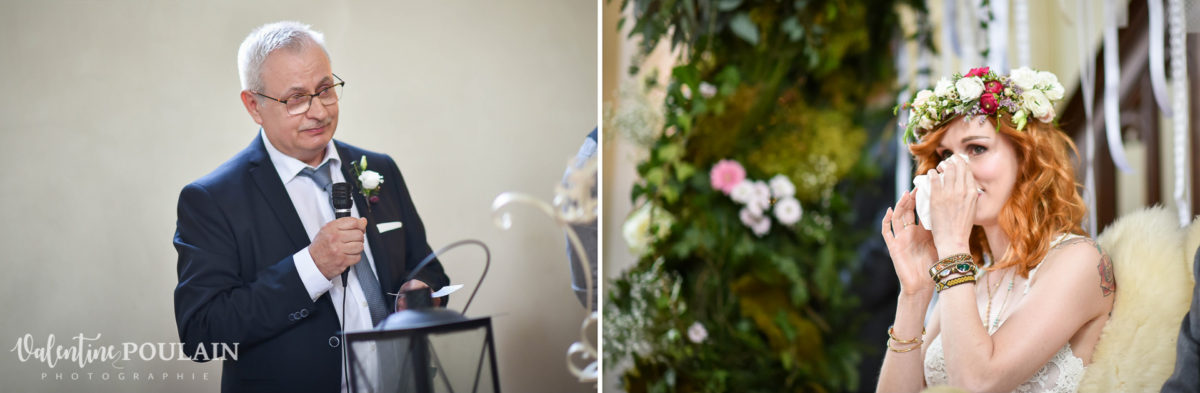 Mariage hippie funky - Valentine Poulain discours papa