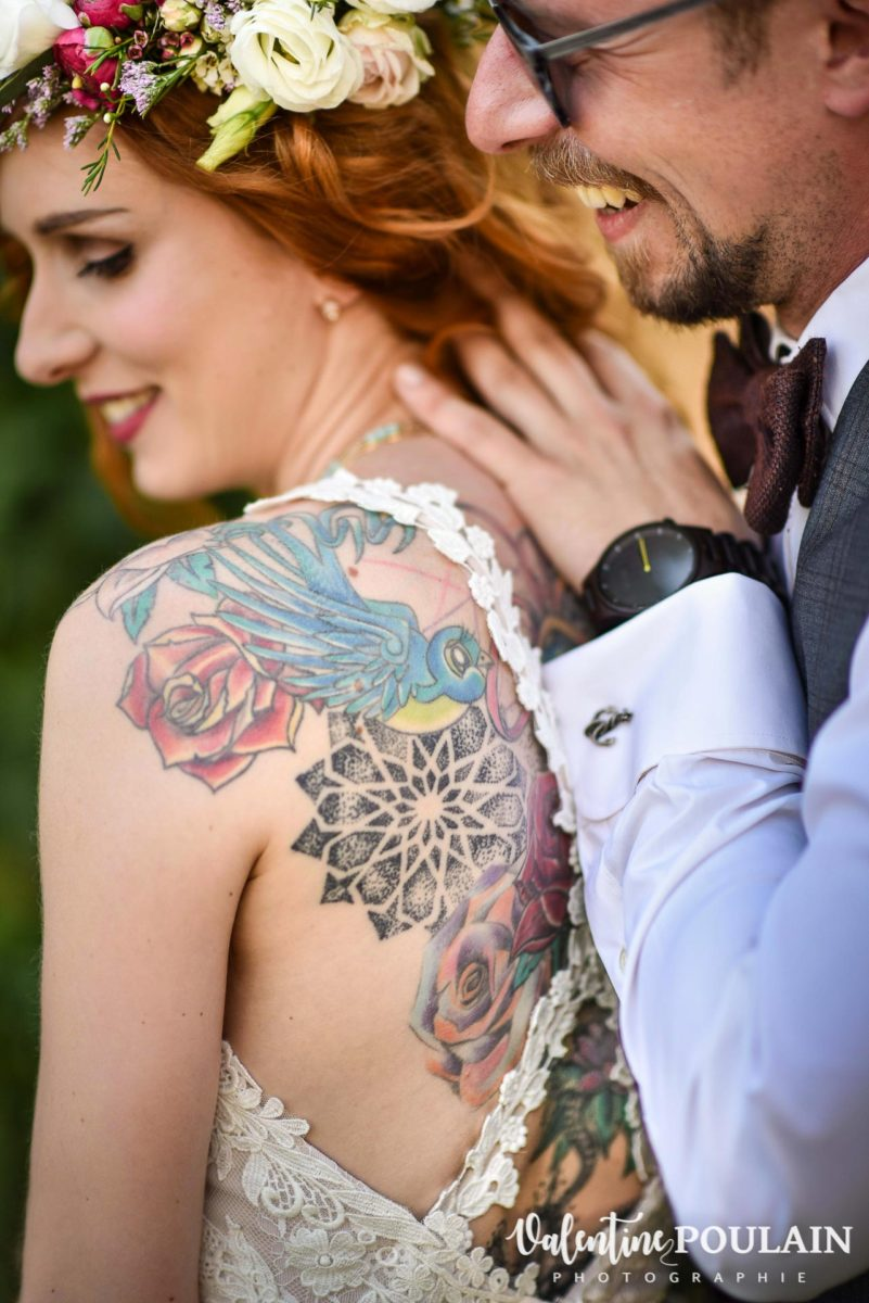 Mariage hippie funky - Valentine Poulain first look
