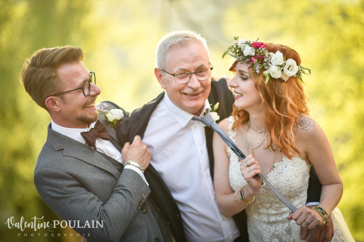 Mariage hippie funky - Valentine Poulain papa