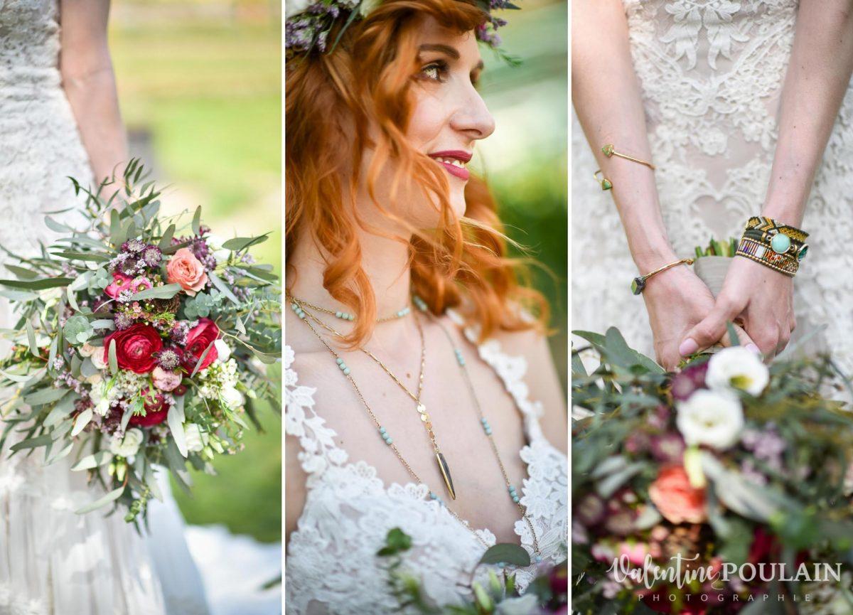 Mariage hippie funky - Valentine Poulain - tenue de la mariée