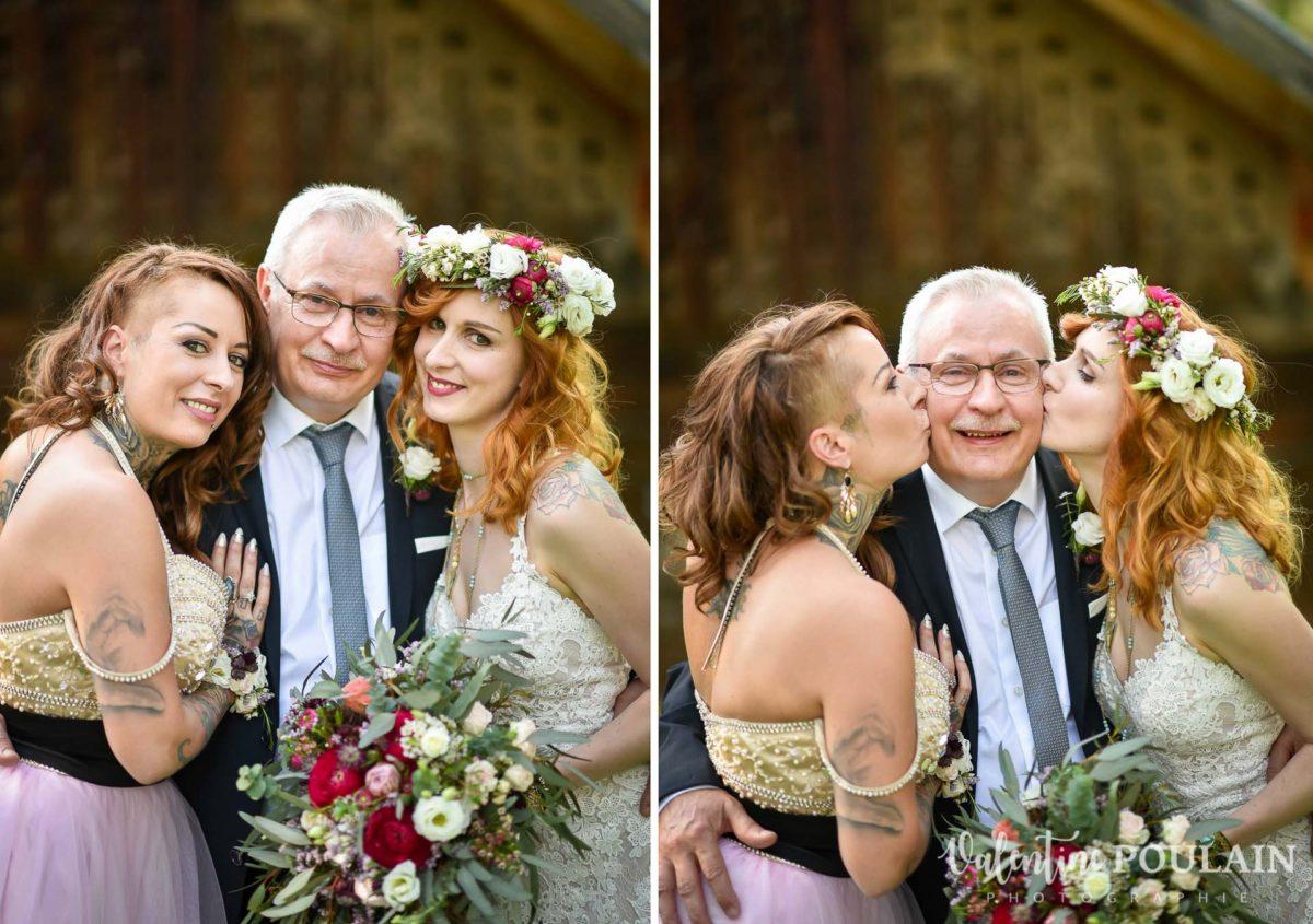 Mariage hippie funky - Valentine Poulain - père et filles
