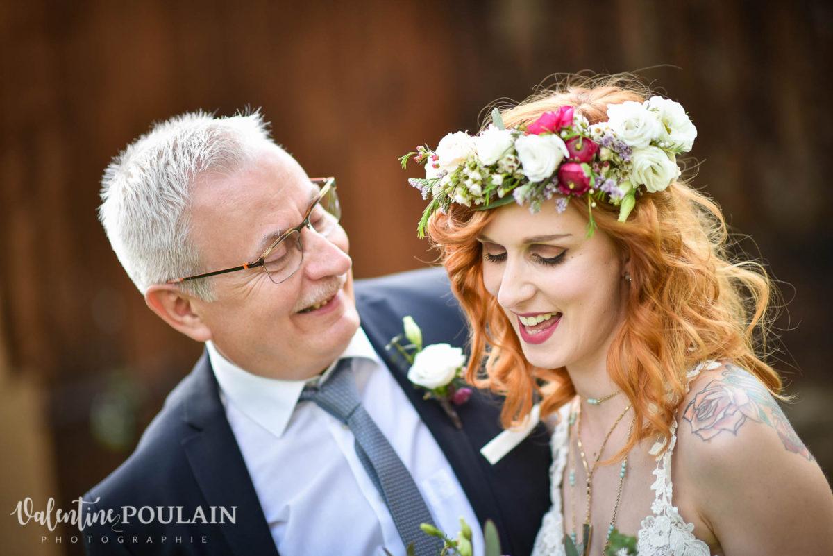 Mariage hippie funky - Valentine Poulain père