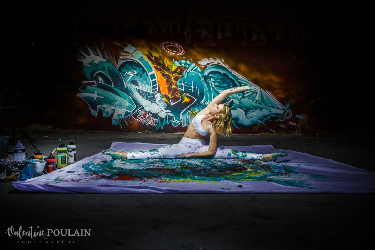 Shooting Yoga girl - Valentine Poulain grand écart