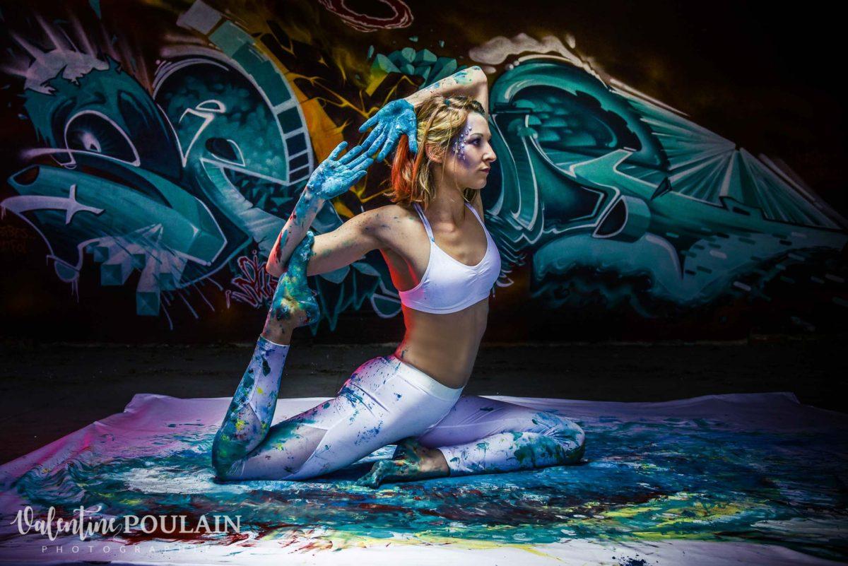 Shooting Yoga girl - Valentine Poulain pose