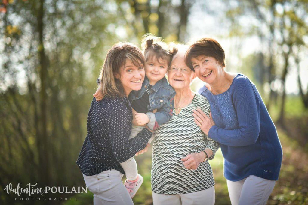 Shooting famille 4 générations femmes photo