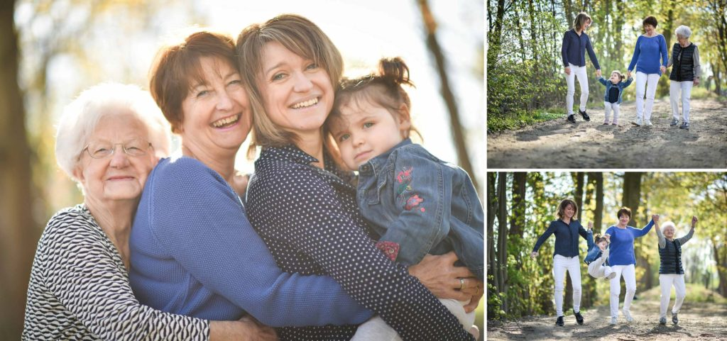 Shooting famille 4 générations femmes portrait