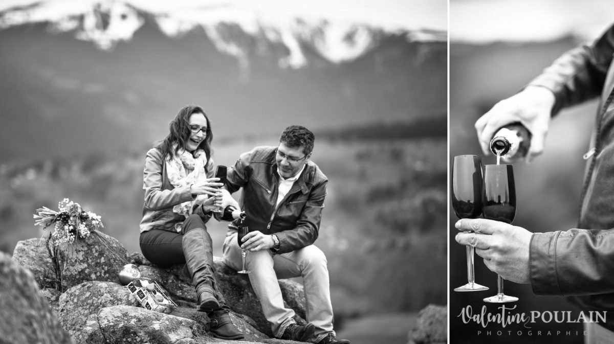 Shooting save the date montagne - Valentine Poulain crémant